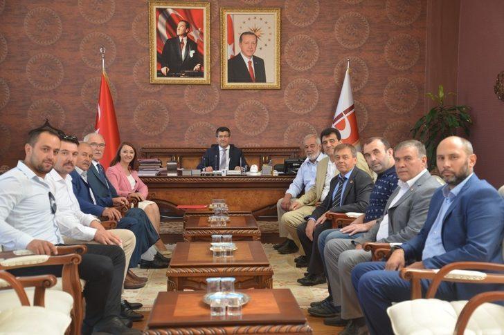 Başkan Tekin Rektör Taş'ı ziyaret etti