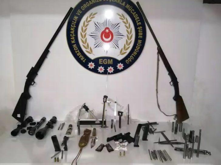 Trabzon'da silah kaçakçılarına eş zamanlı operasyon