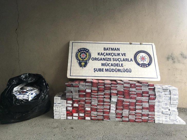 Batman'da 3 bin 500 paket kaçak sigara ele geçirildi