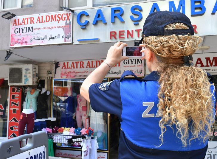 Bursa'da yabancı dildeki tabelalar Türkçeye çevriliyor