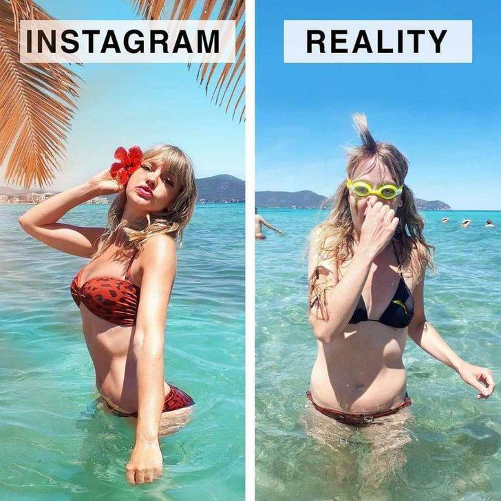Ah şu sosyal medya! Instagram'da ve gerçek hayatta yaşananlar...