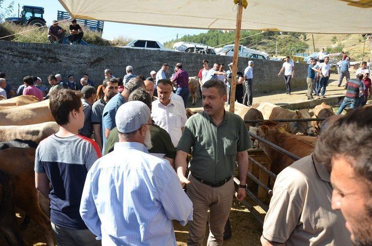 Başkan Çakıcı, hayvan pazarını gezdi