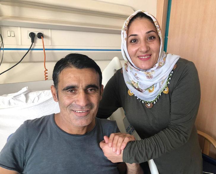 15 yıllık eşini böbreğiyle hayata bağladı