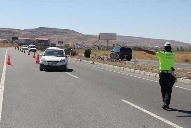 Kayseri'de bayramda trafik denetimi