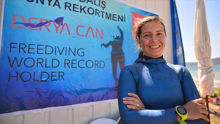 Derya Can, yeni dünya rekoru için yine Salda Gölü'nü seçti