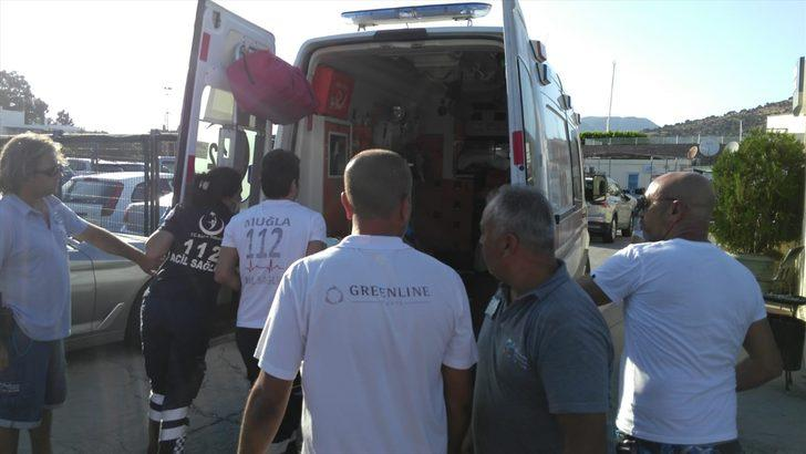 GÜNCELLEME - Bodrum'da sürat teknesinin çarptığı kadın yaralandı