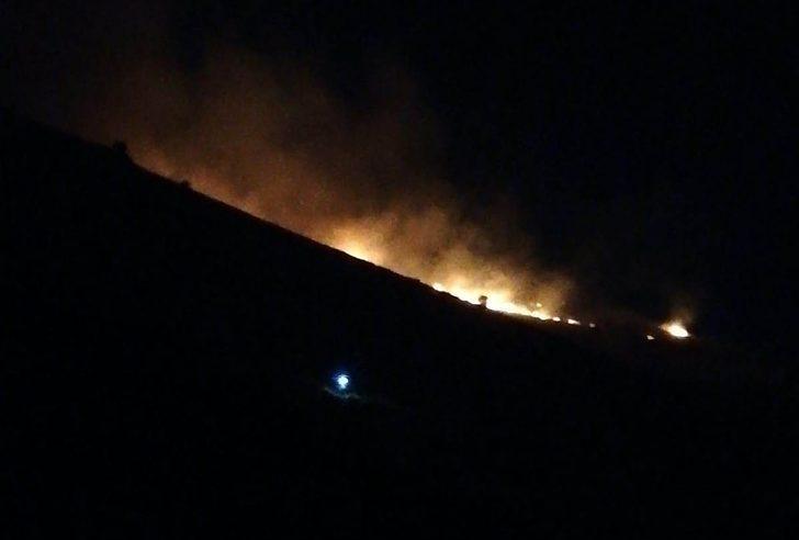 Malatya'da korkutan yangın! 5 hektarlık alan alevlere teslim oldu