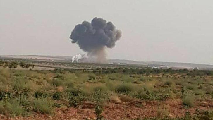 İdlib'de rejime ait bir Rus uçağı düşürüldü