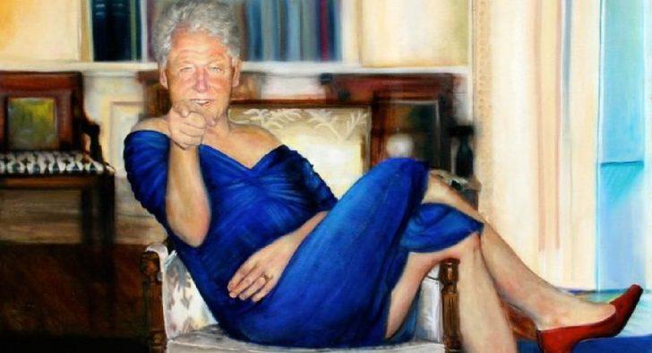 Elbiseli Bill Clinton tablosunun ressamı ortaya çıktı!