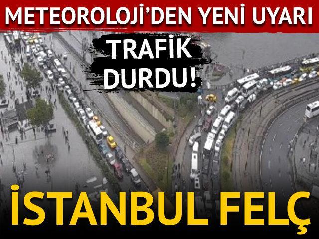 İstanbul'da sağanak yağış! Meteoroloji'den yeni uyarı