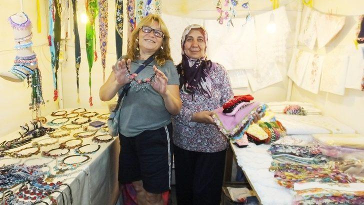 Burhaniye'de Hamarat Eller Kermesi kadınları iş sahibi yaptı