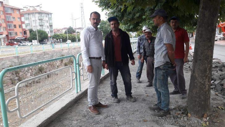Tosya'da yaya yolları tamamen yenileniyor