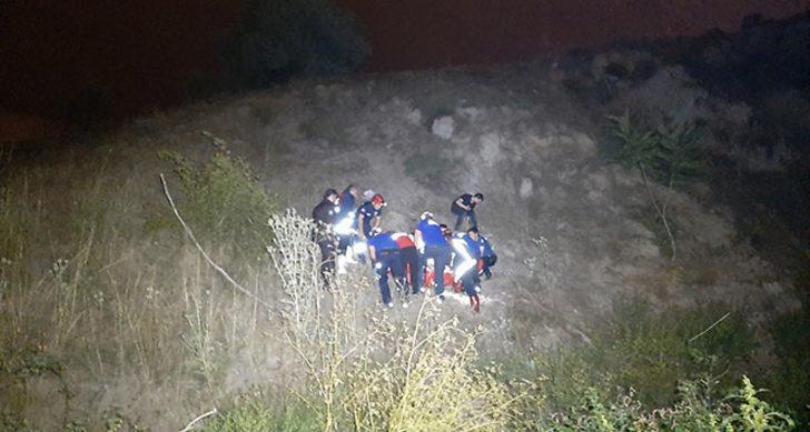 50 metreden dereye düşen kişi iki saatlik çalışmayla kurtarıldı