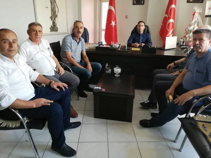 Türkiye Kamu Sen ve Türk Büro Sen'den MHP'ye ziyaret