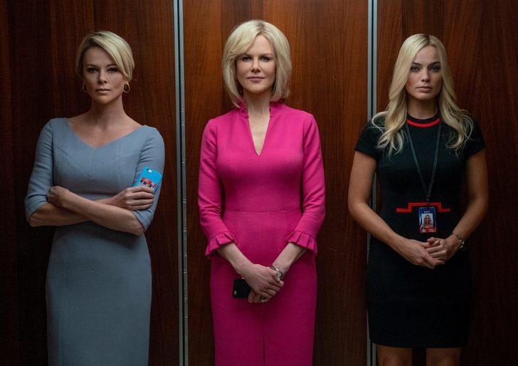 Charlize Theron, Nicole Kidman ve Margot Robbie'li Bombshell'den ilk fragman yayınlandı