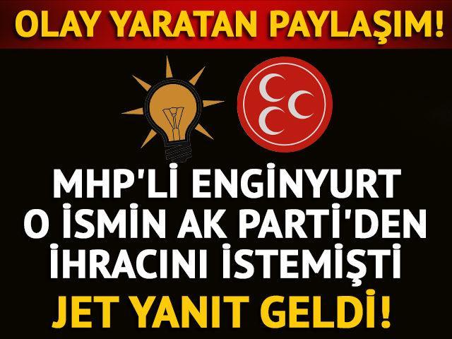 AK Partili Yeneroğlu paylaşımına tepki gösterenlere yanıt verdi