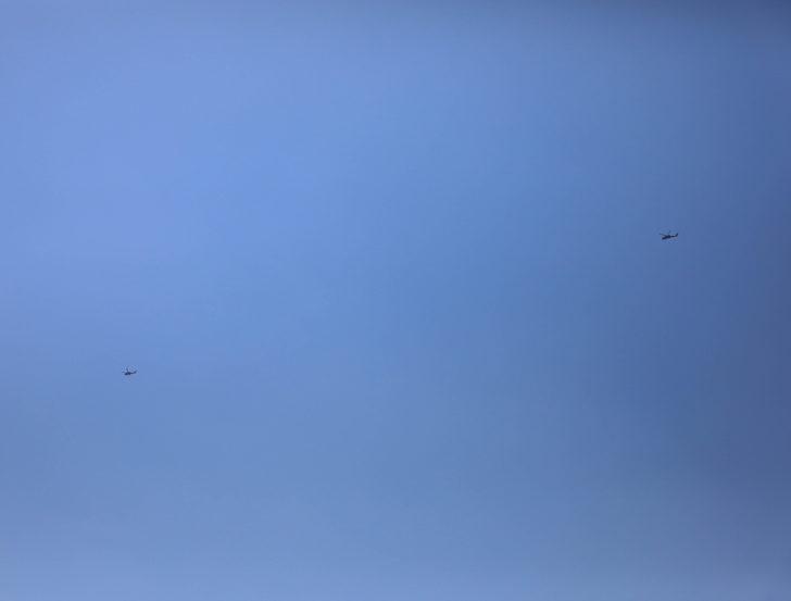 Sınırda askeri helikopter hareketliliği! Kime ait olduğu tespit edilemedi