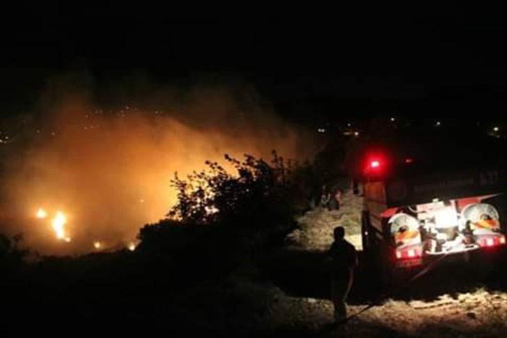 Belen'de 5 hektar alan yandı