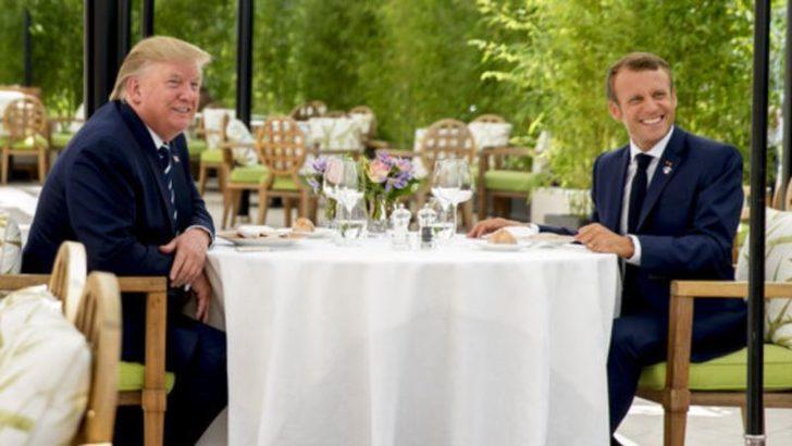 G7: Trump ve Macron İki Saat Baş Başa Görüştü