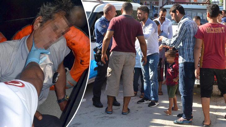 Adana'da iğrenç olay! Polis mahallelinin elinden zor aldı