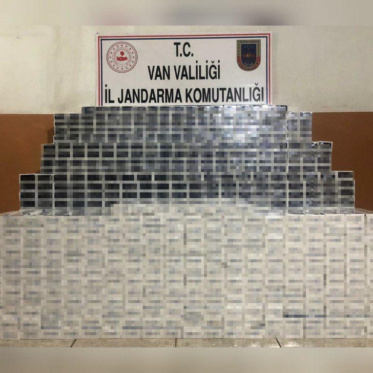 Van'da 14 bin 980 paket kaçak sigara ele geçirildi