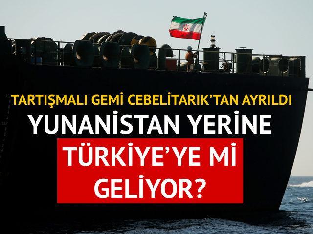 İran petrol tankeri varış noktasını Türkiye'ye değiştirdi!
