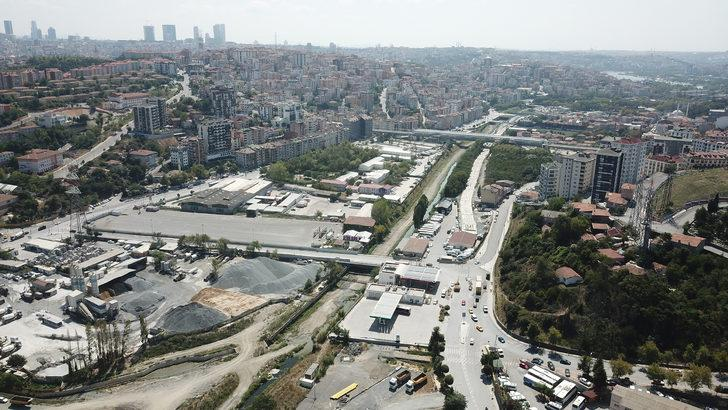 30 gün kapalı kalacak yol havadan fotoğraflandı