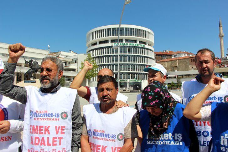 Bolu Belediyesi'nde işten çıkarılan işçilerin eylemi 125'inci gününde
