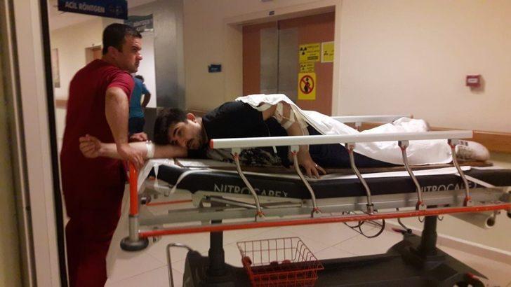 Kesim makinesi işçiyi sırtından yaraladı