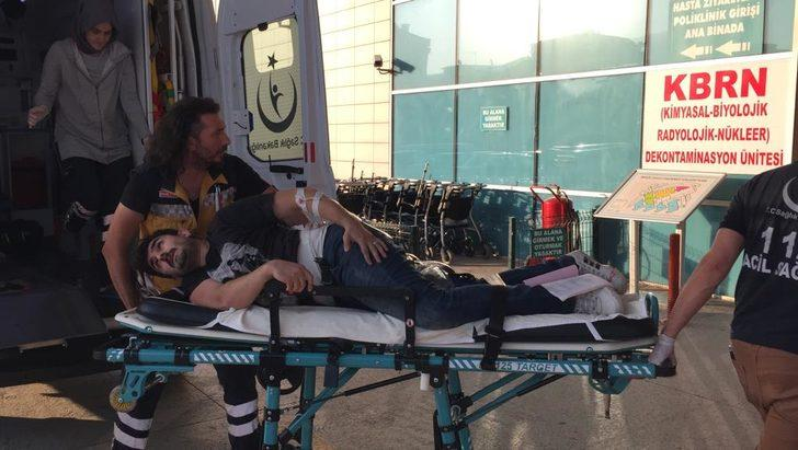 Bursa'da kesim makinası işçiyi yaraladı