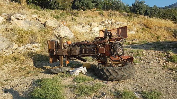 Karaman'da traktör şarampole yuvarlandı: 1 yaralı