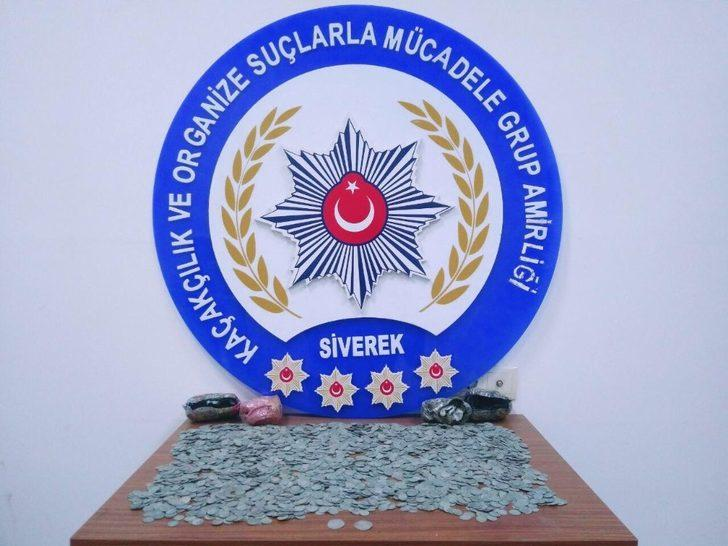 Şanlıurfa'da 4 bin 203 adet gümüş sikke ele geçirildi
