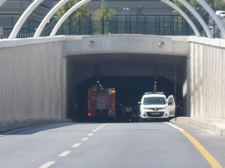 Kaza nedeniyle Avrasya Tüneli araç girişine kapatıldı (1)