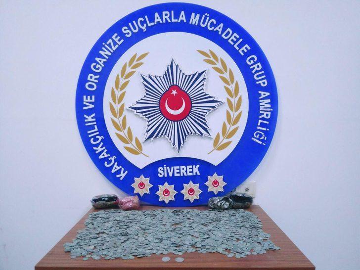 Şanlıurfa'da 4 bin 203 gümüş sikke ele geçirildi