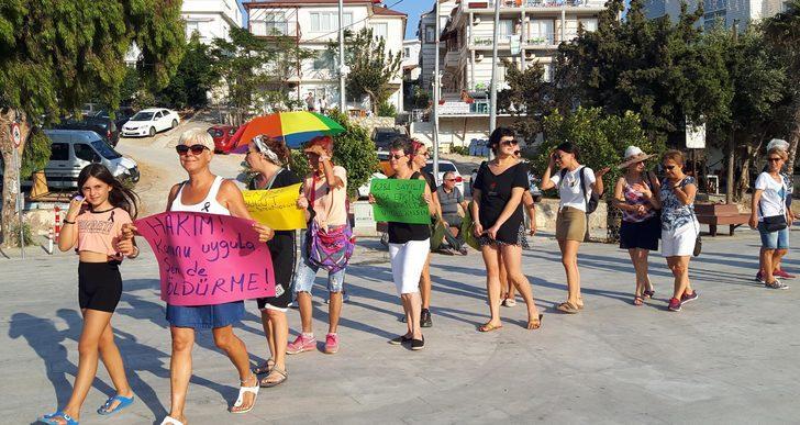 Datça'da kadın cinayetlerine tepki