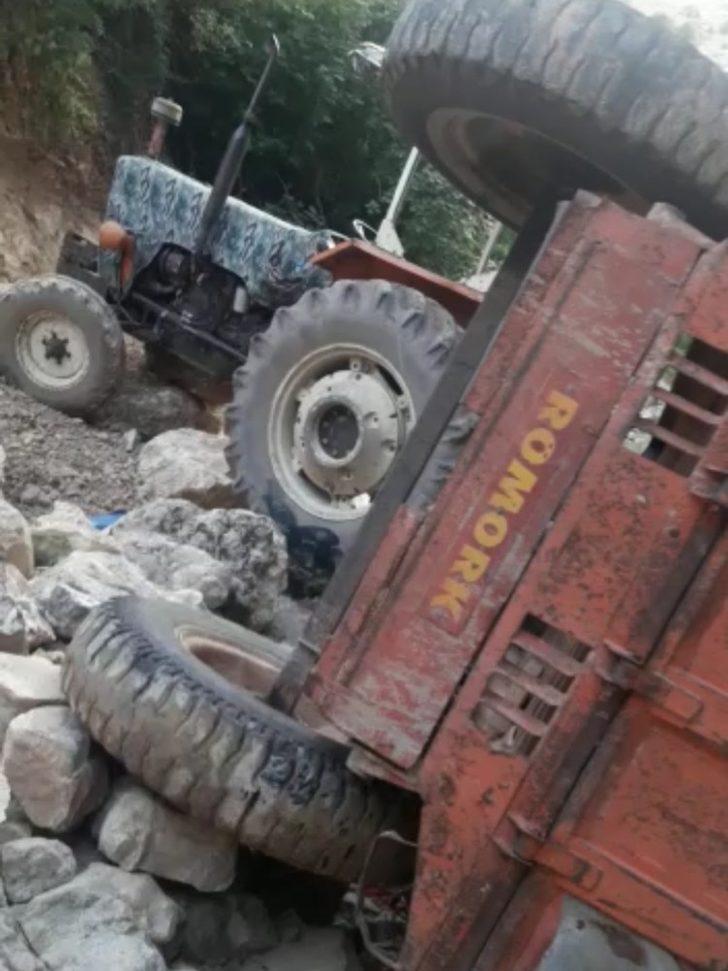 Freni patlayan traktör dereye yuvarlandı: 1 ölü, 3 yaralı