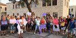 Foça'da kadın cinayetlerine tepki