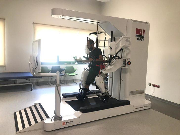 Felçli hastaların umudu yürüme robotu, Bursa Şehir Hastanesi'nde