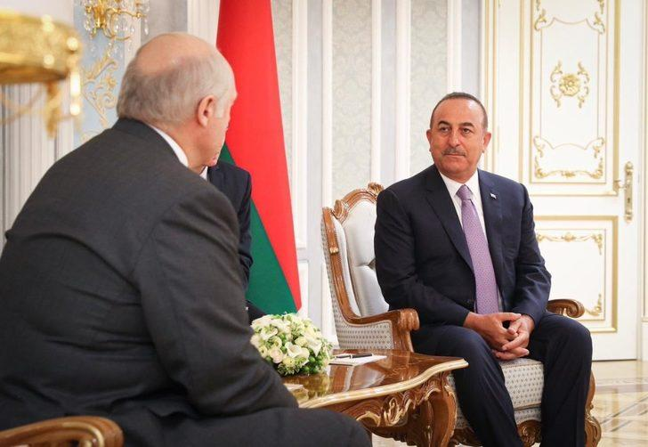 Dışişleri Bakanı Çavuşoğlu, Belarus Cumhurbaşkanı Lukashenko tarafından kabul edildi