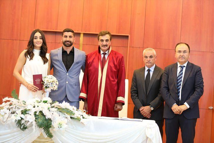 Sivassporlu Muammer Yıldırım'ın mutlu günü