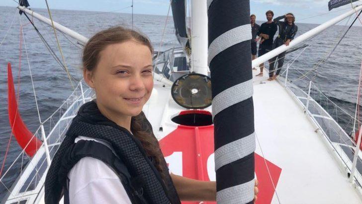 16 Yaşındaki İklim Aktivisti Okyanusu Aştı