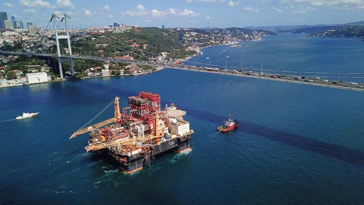 Dev petrol arama platformu 15 Temmuz Şehitler Köprüsü altından geçti
