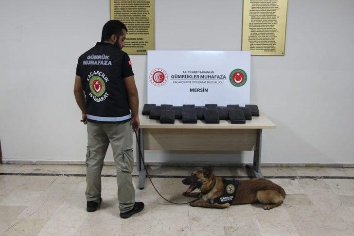 Mersin Limanı'nda 23 kilo 745 gram kokain ele geçirildi