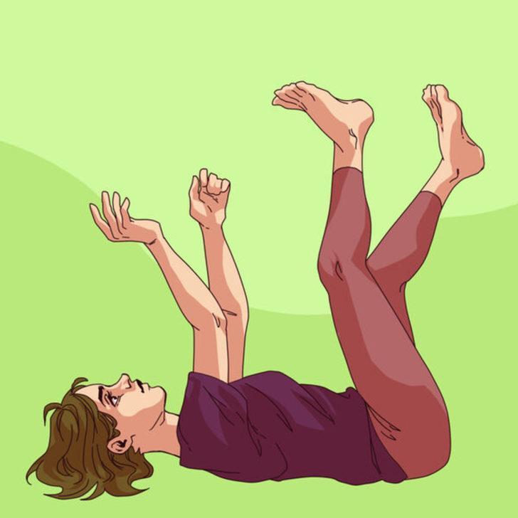 Kollarınızı kaldırın ve bacaklarınızı bükün! Lenf drenaj  egzersiziyle tanışın