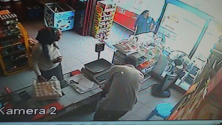 'Tırnakçılık' yöntemi ile para çalan kadın güvenlik kamerasında