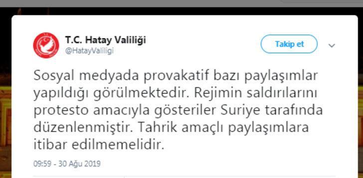 Türkiye sınırına yakın bölgelerde rejimin saldırılarını protesto ettiler (3)