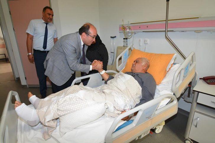 Başkan Mustafa Çöl'den hastane ziyareti