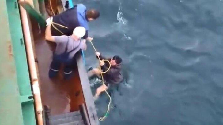 10 saat suda kaldı balıkçılar kurtardı