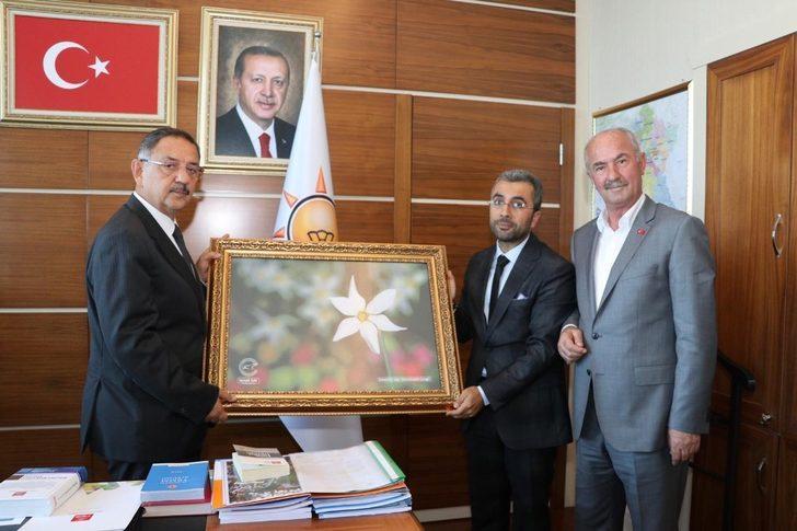 Başkan Say'dan Başkan Özhaseki'ye ziyaret