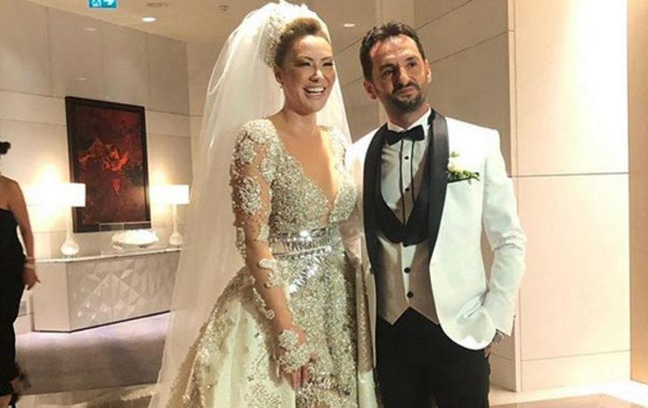 Şarkıcı Aylin Coşkun evlendi! 20 kiloluk gelinlik giydi